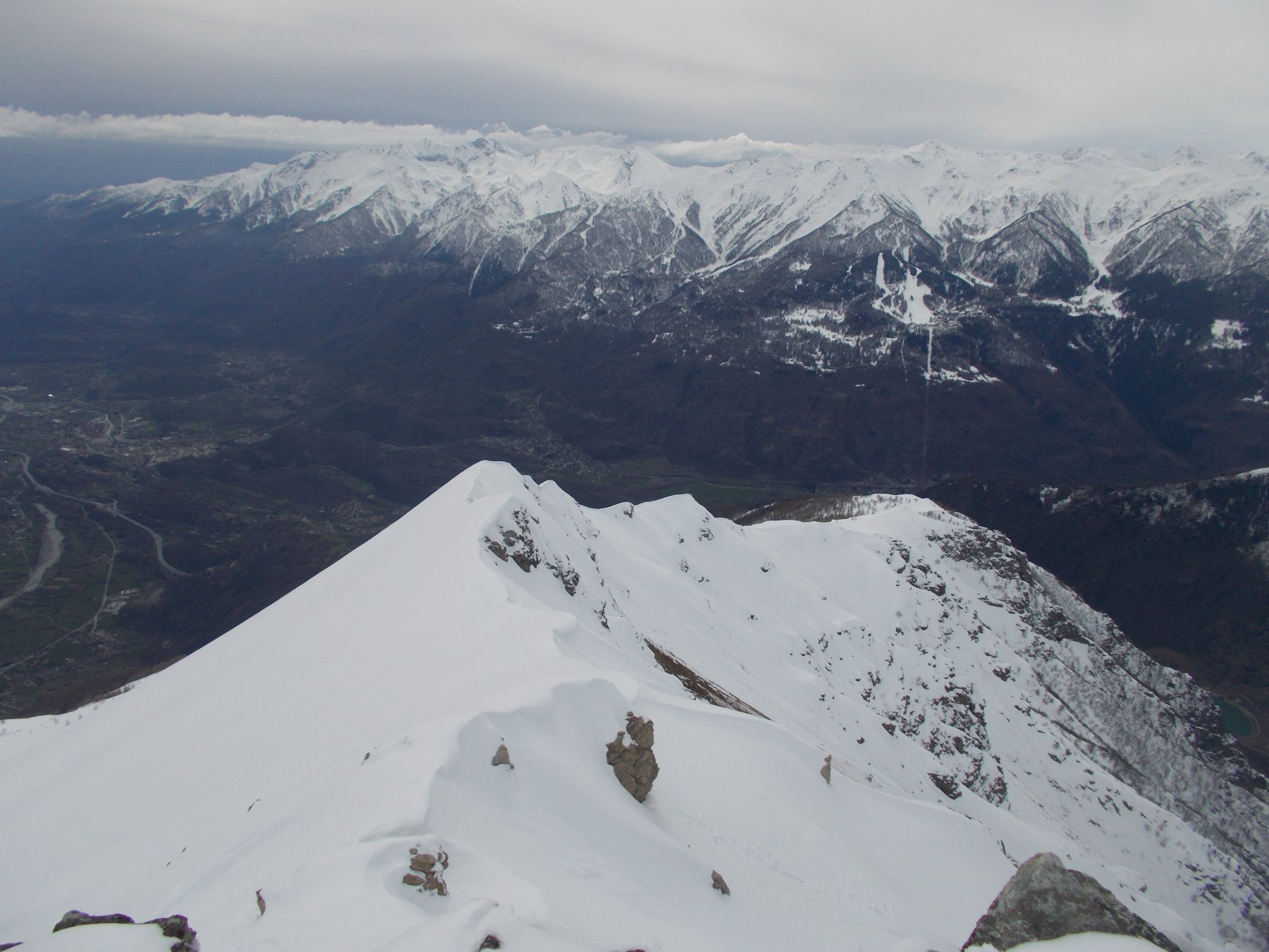 dalla mulatera la cresta sud del Toasso Bianco..