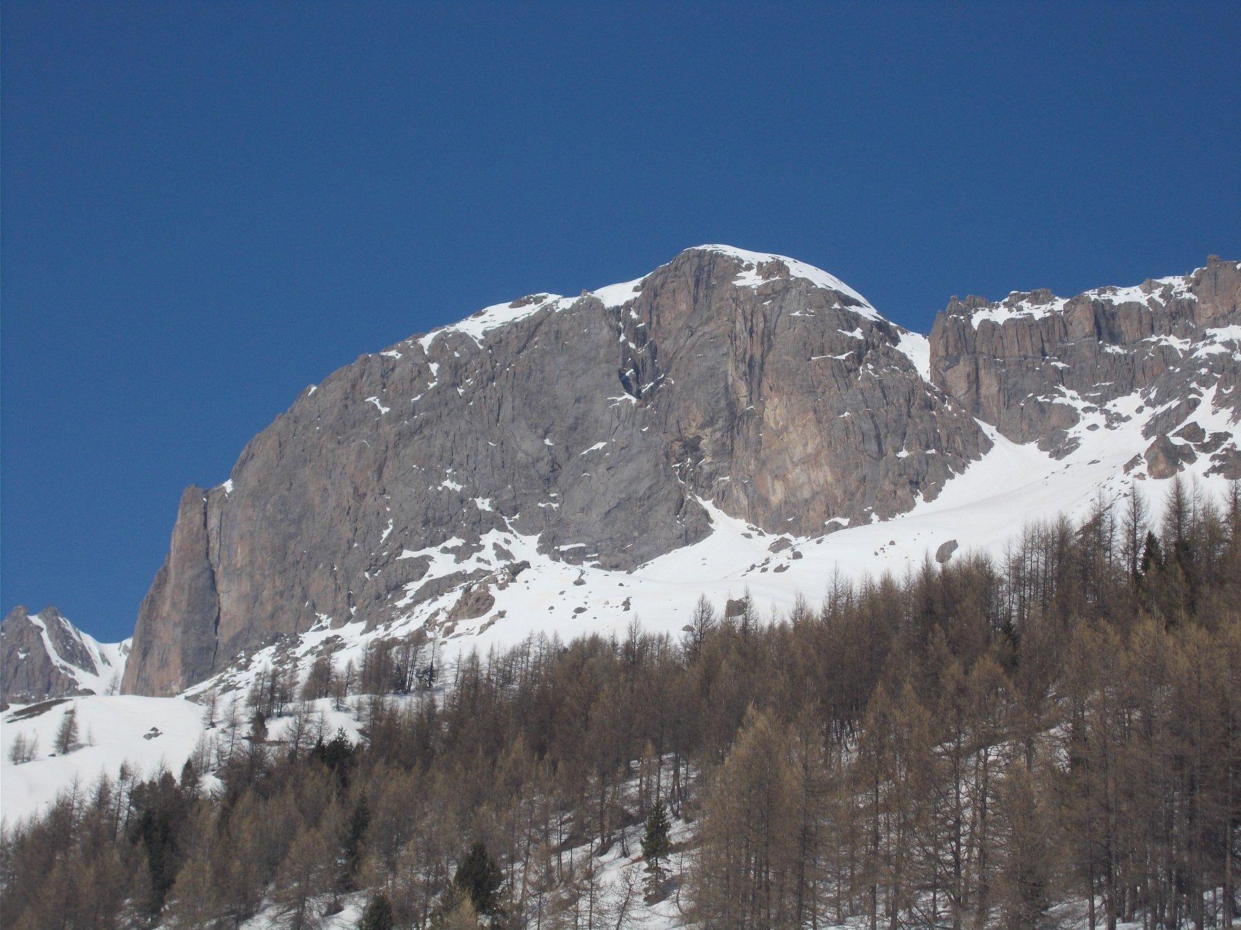 la Tete Colombe dalla strada al Col de L'autaret..