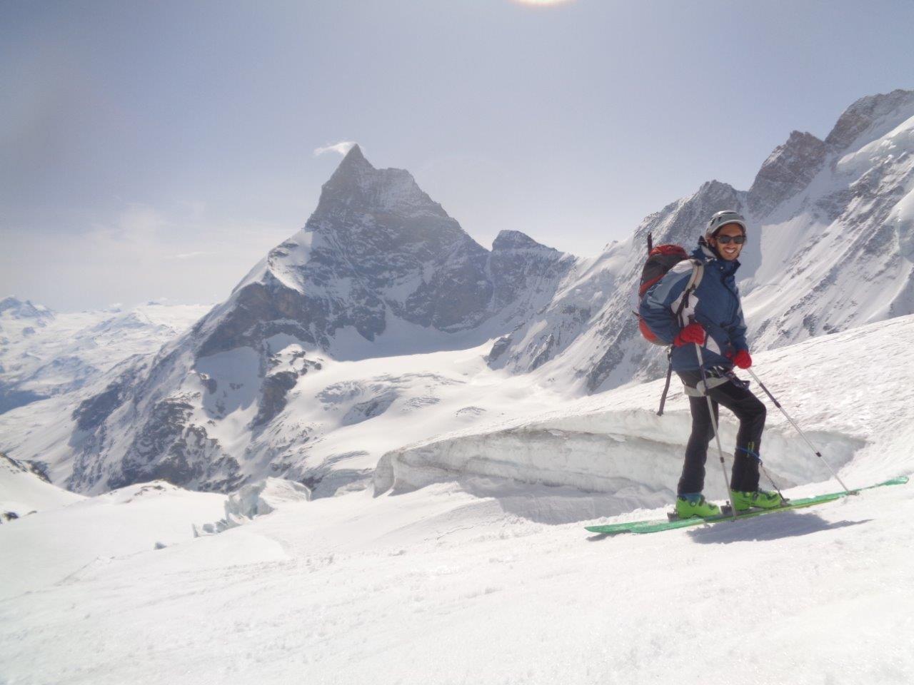 si cala verso Zermatt in un ambiente spettacolare