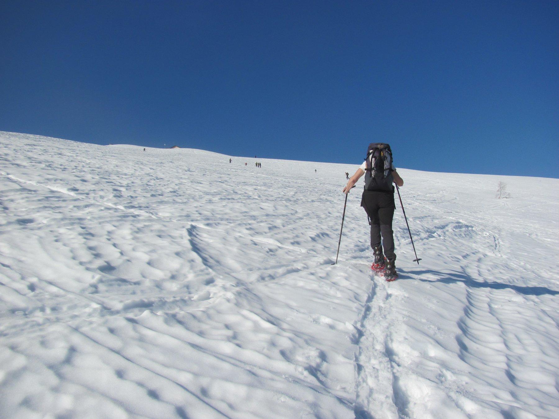 verso l'Intermedio, la neve tiene ancora