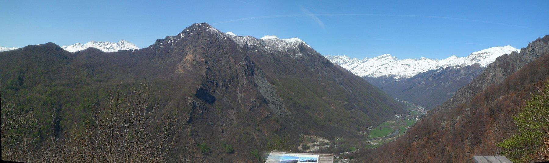 Panorama dal sentiero Vi 'd Miculà