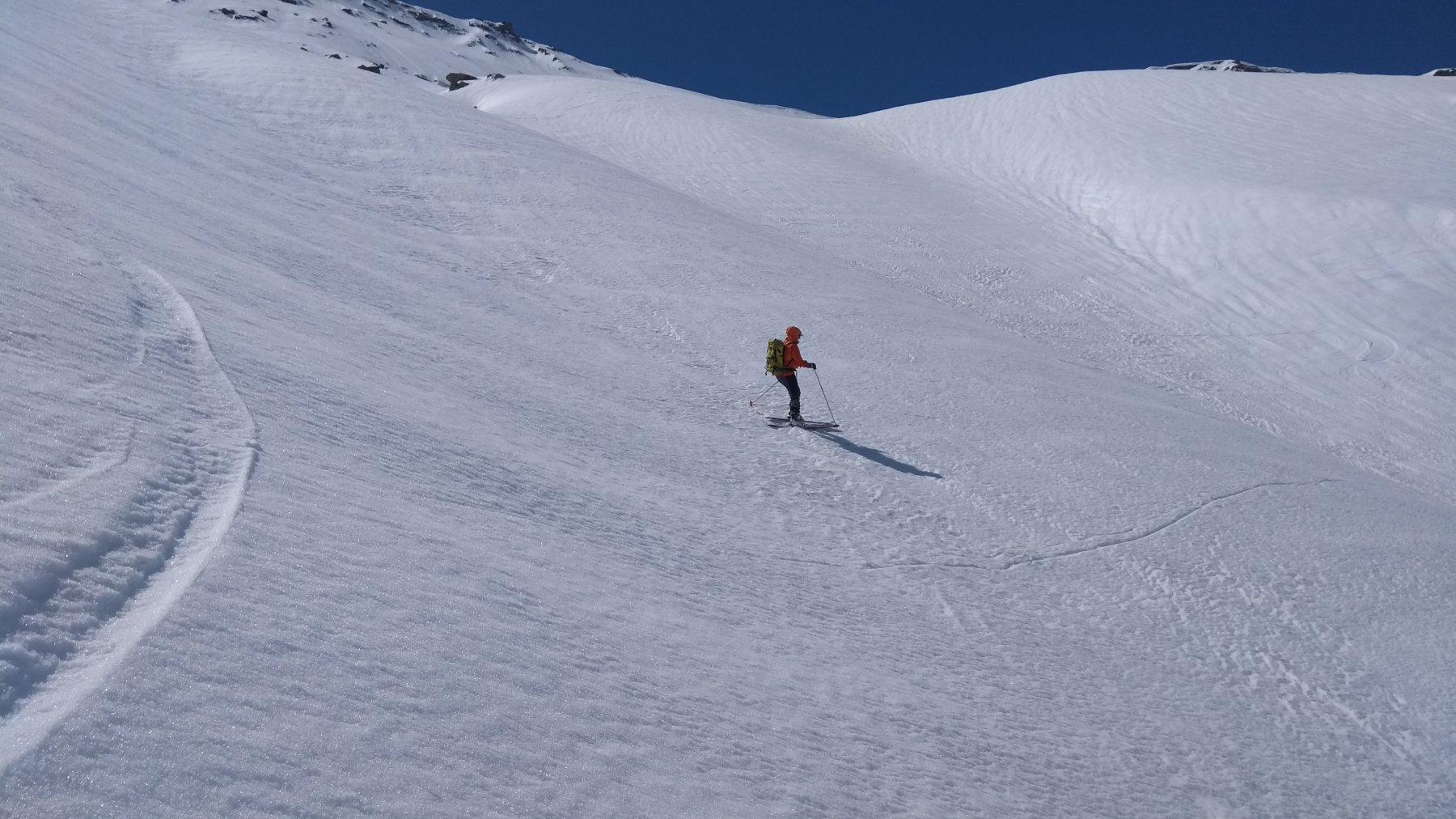 parte alta del vallone: ancora tanta neve
