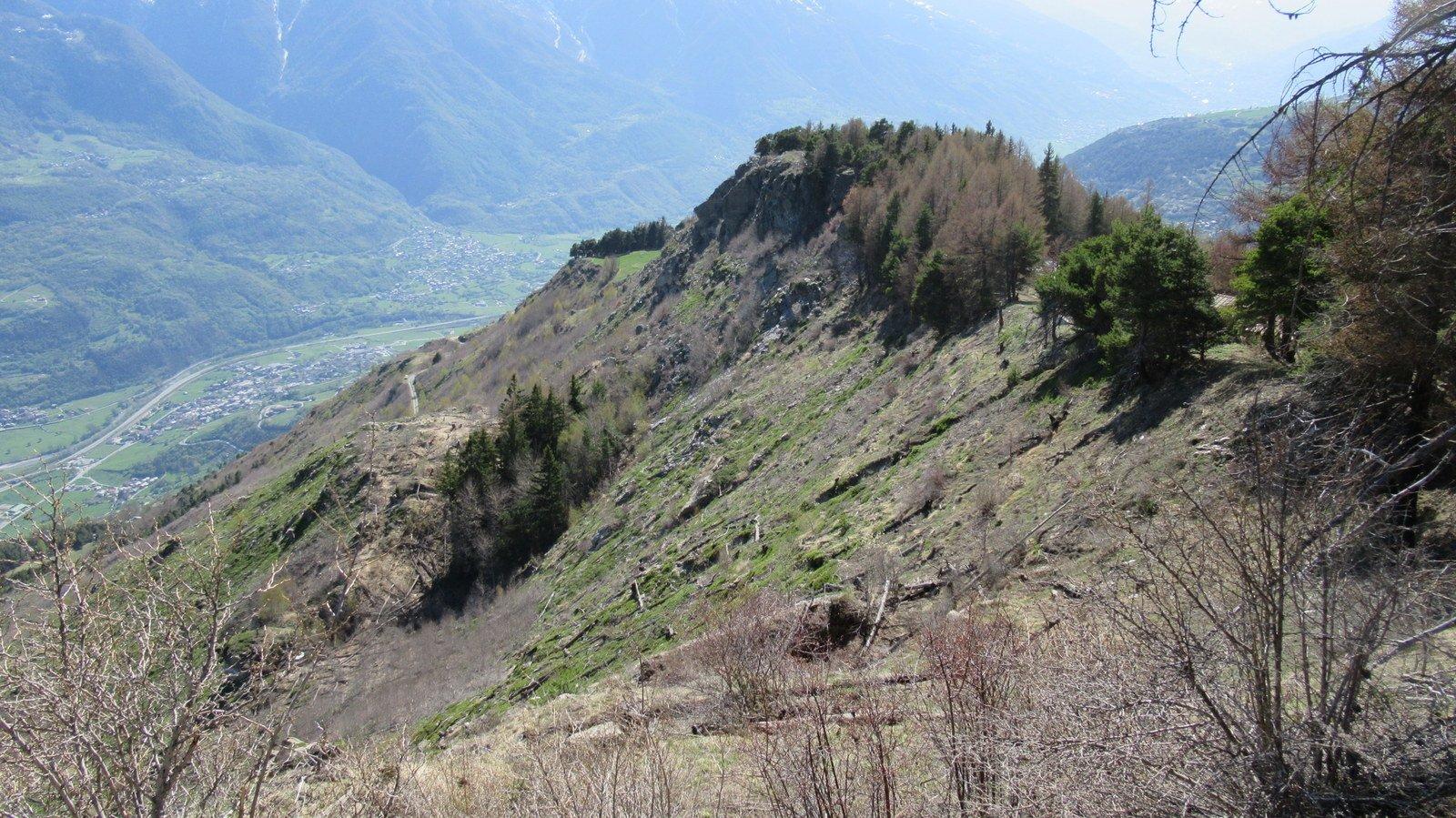 Il Mont de La Pesse visto dall'Alpe La Pesse Dessus