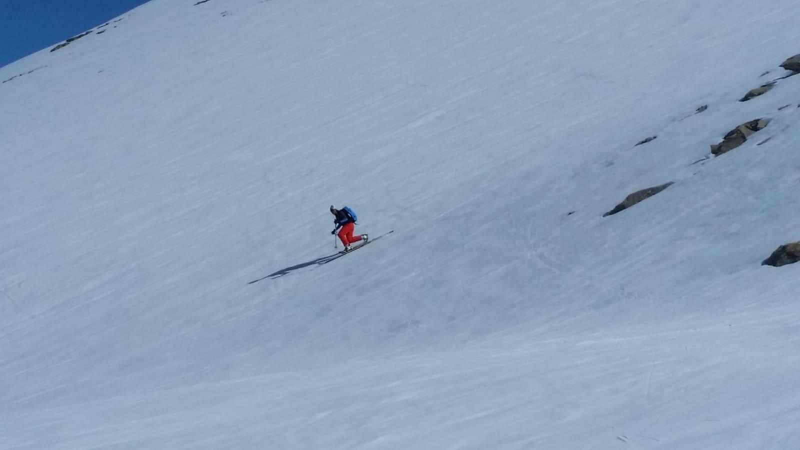 Prime curve su neve ancora abbastanza dura