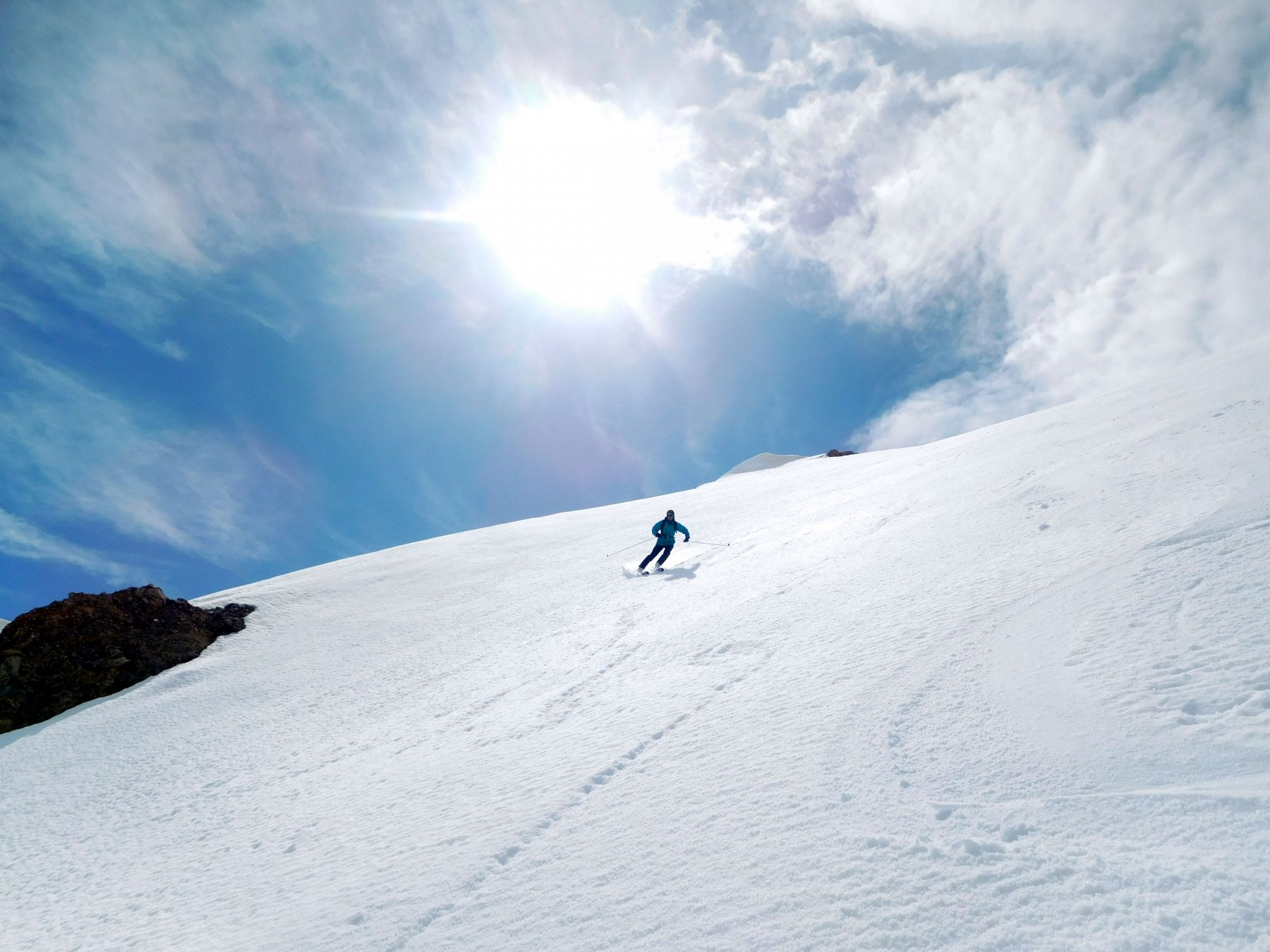 Paolo sulla neve del nord