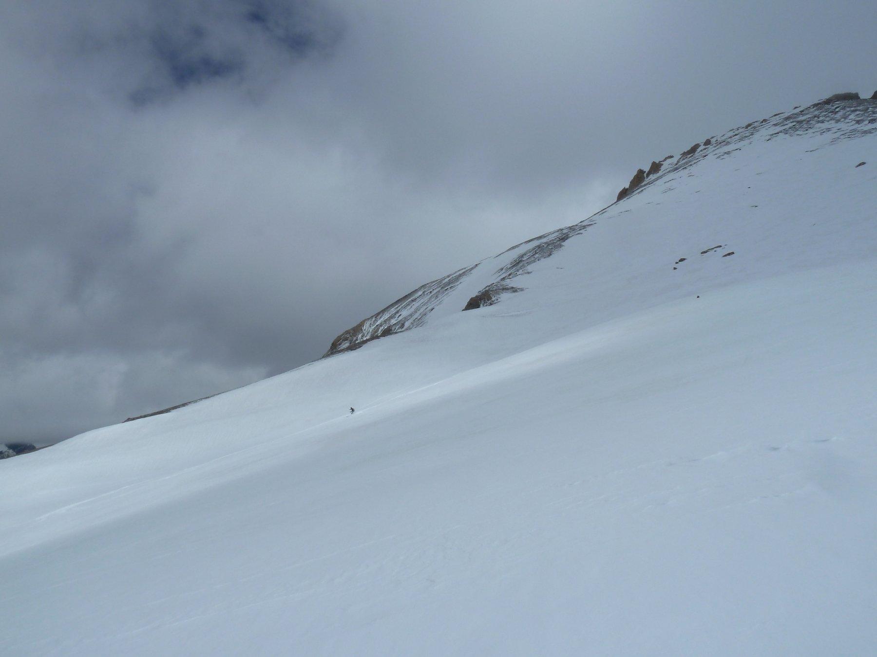 bella neve farinosa alle pendici della Pointe d'Aval