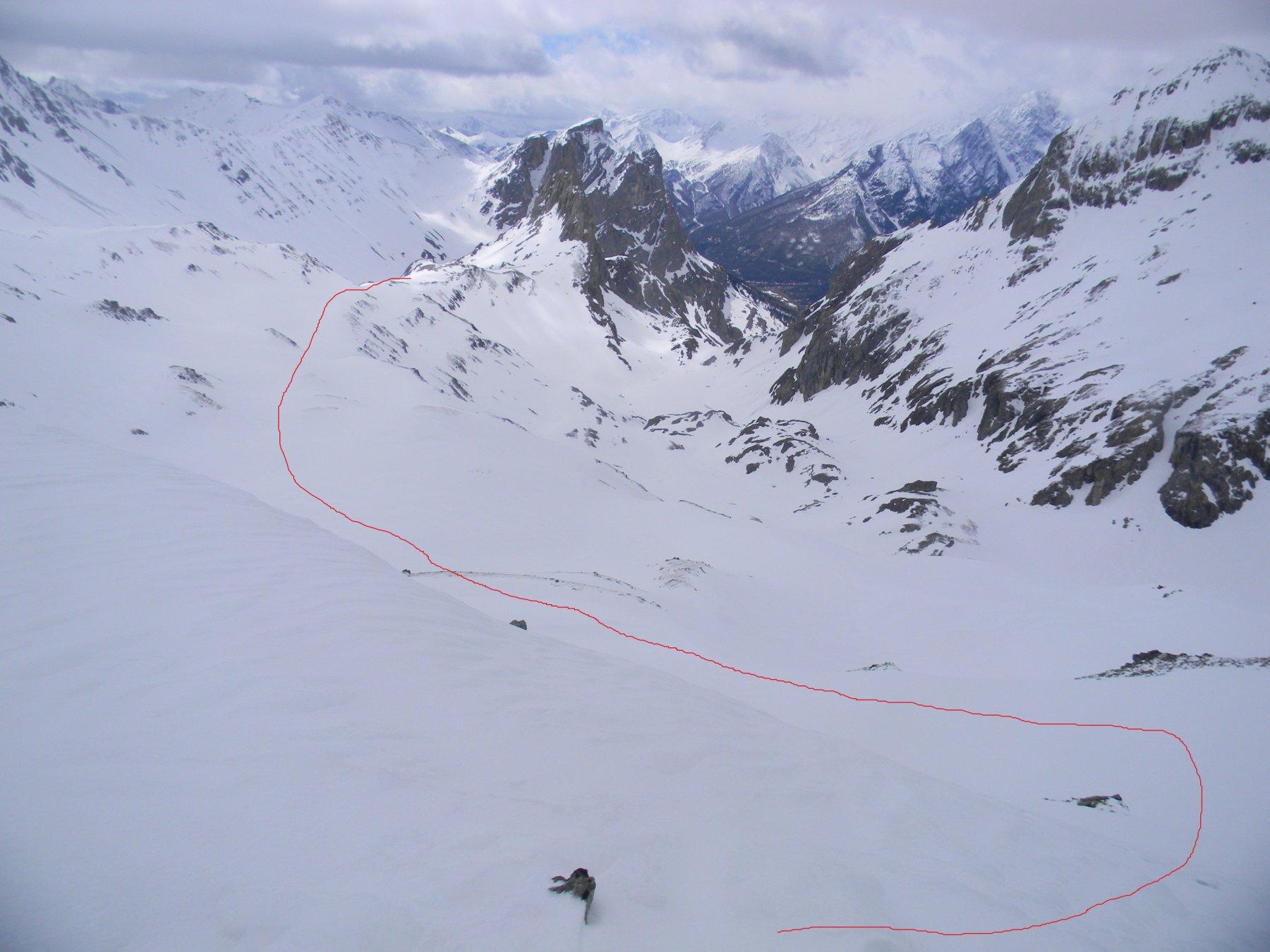 Ponsonnière (Col de la) quota 2717 m da le Pont de l'Alpe 2018-04-30