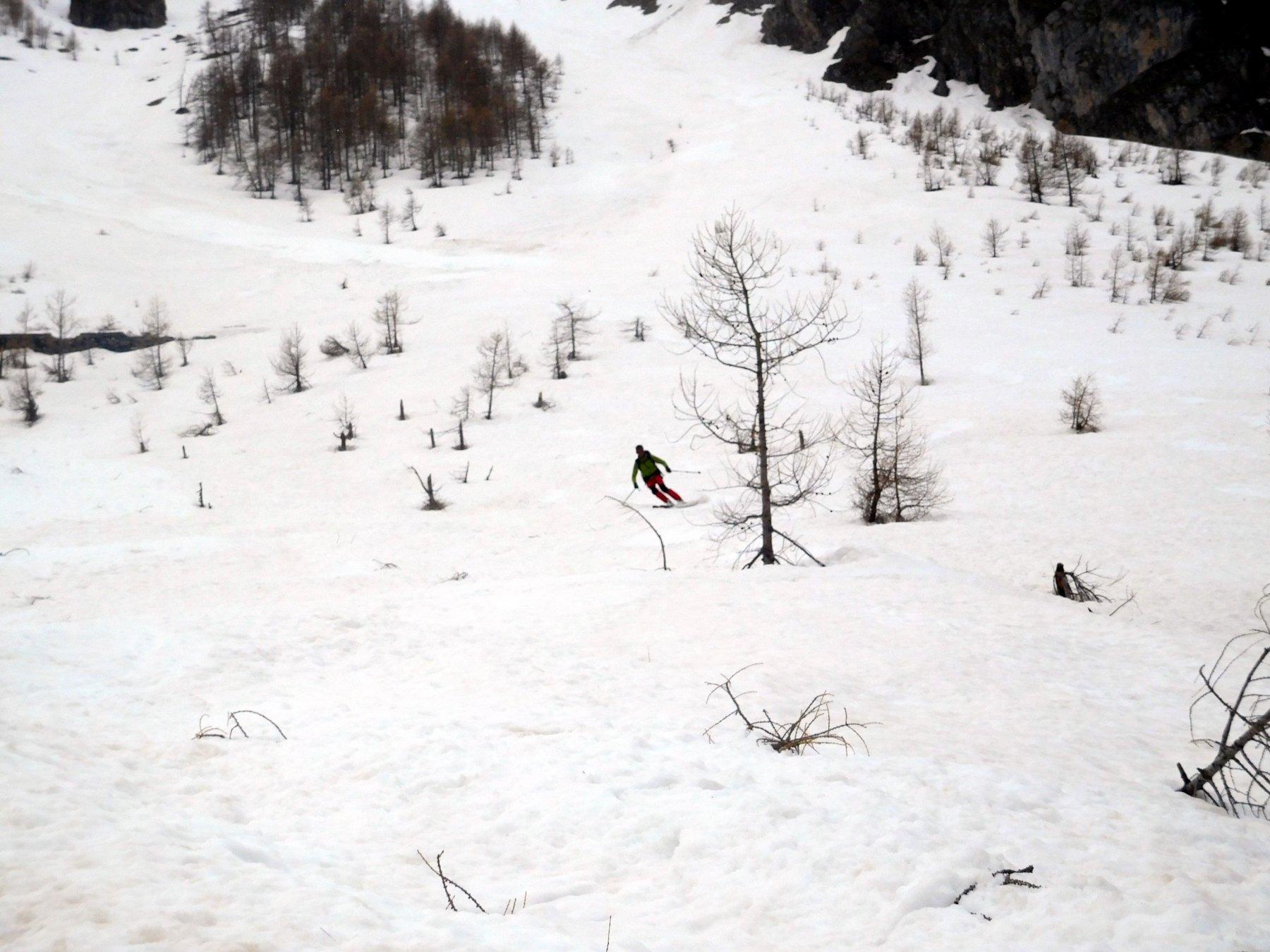 neve molto bella anche in basso sotto Le Teste