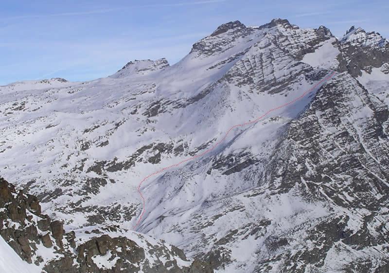Colle della Terra visto dal ghiacciaio delle Levanne