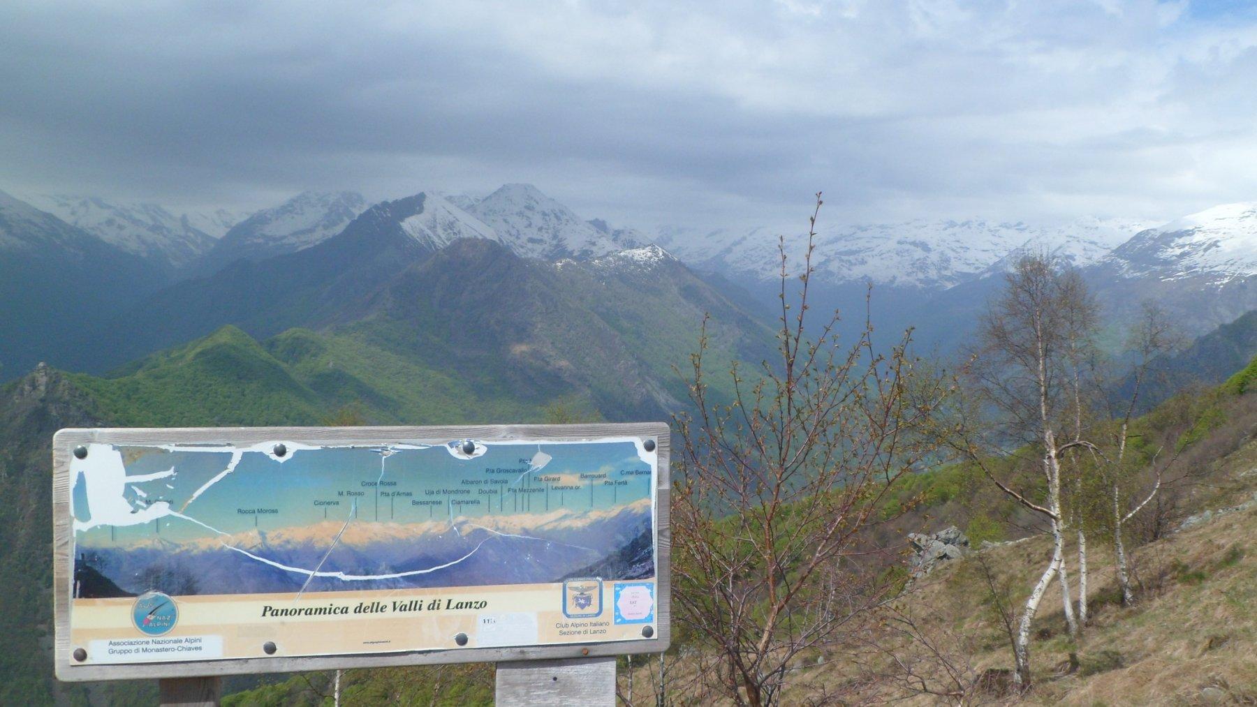 Panorama lungo il sentiero