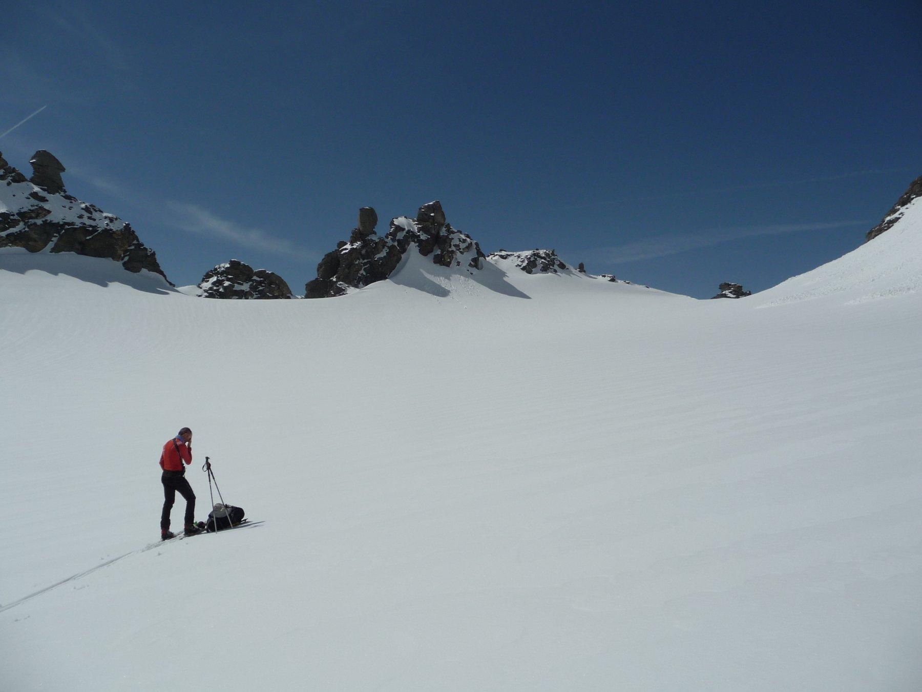 By (Grande Tete de)da Glacier per il Rifugio Chiarella 2018-05-06