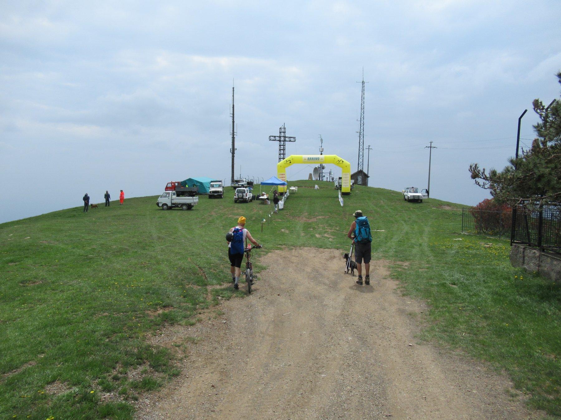 Monte Faudo (m.1149) dove oggi arrivava la maratona.
