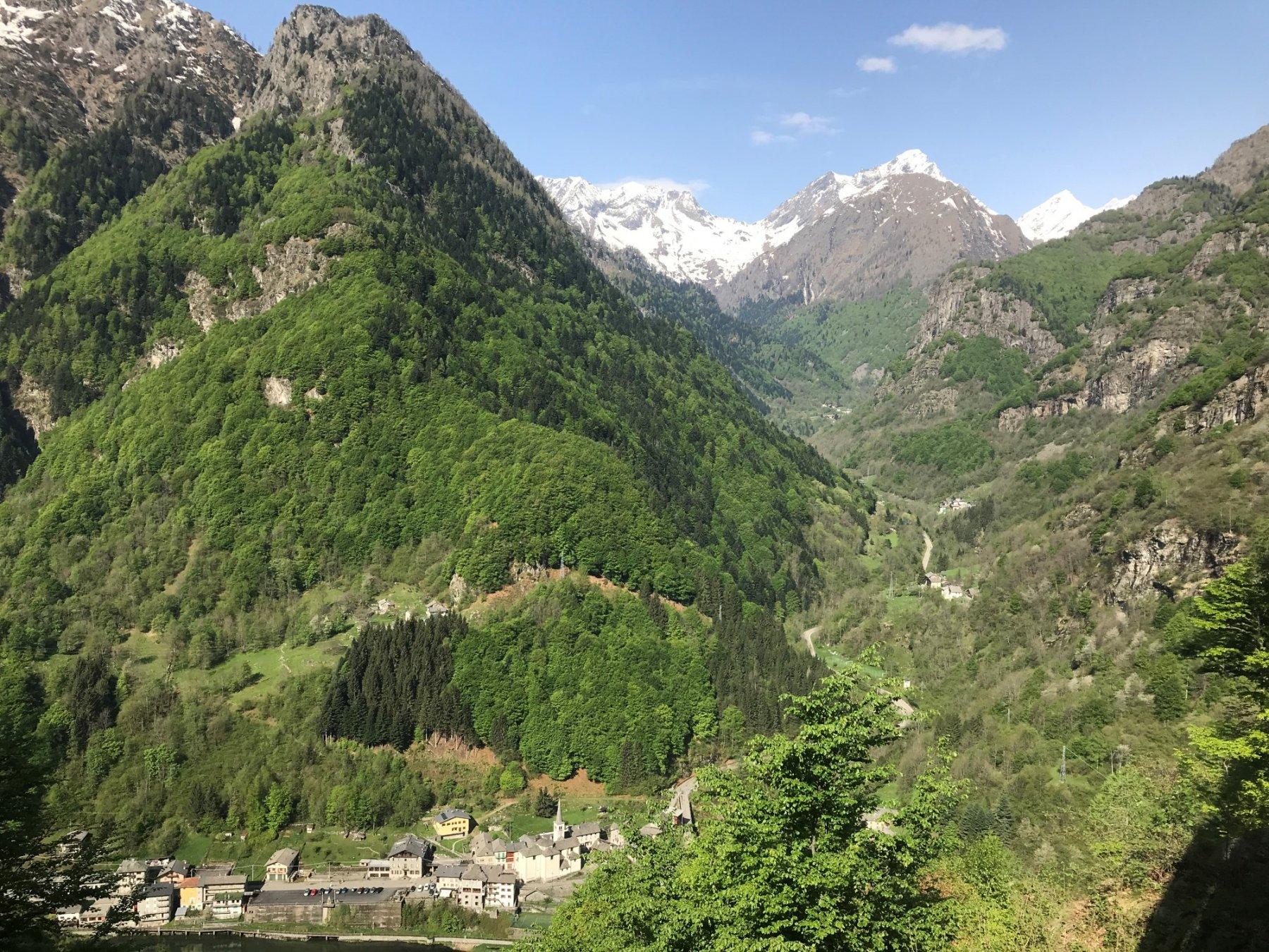 Rimasco visto dal Rifugio Alpe Campo