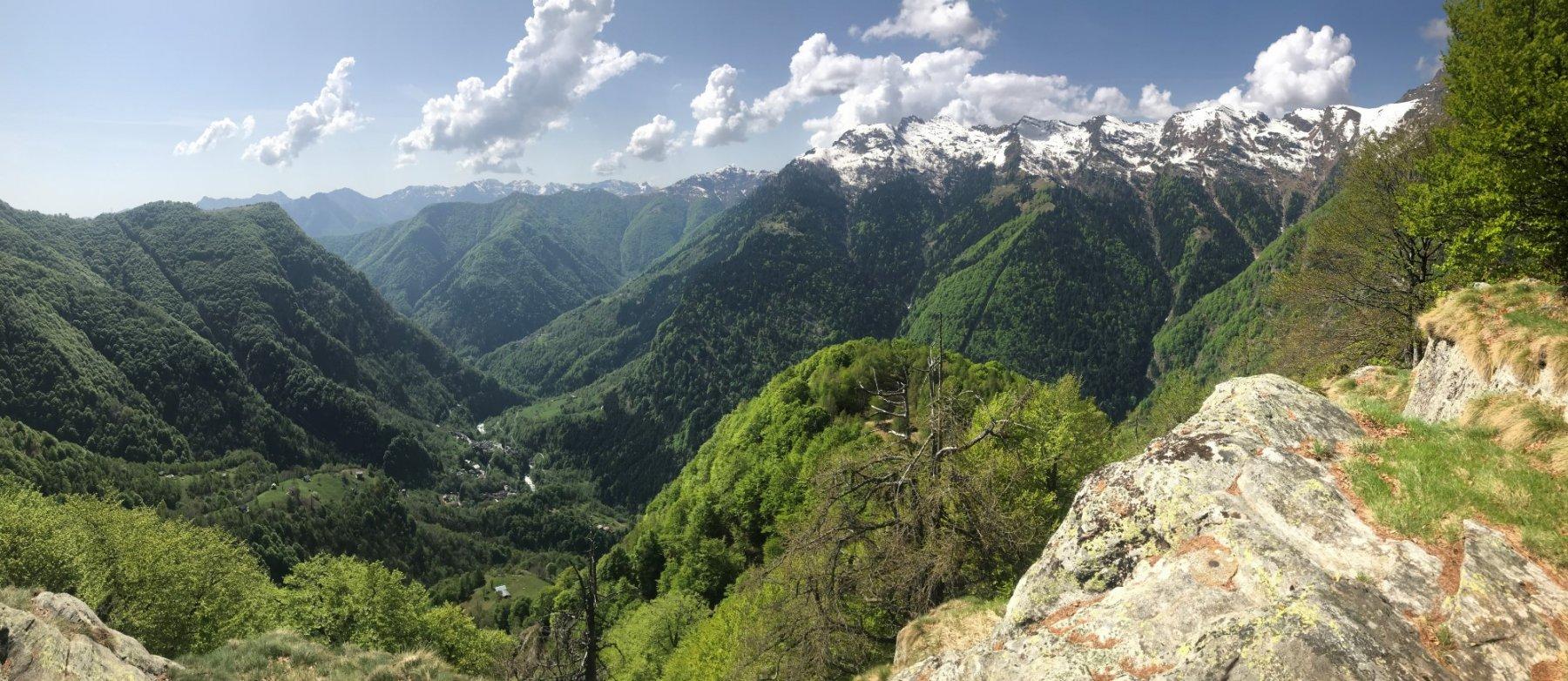 Vista dall'Alpe Le Teste