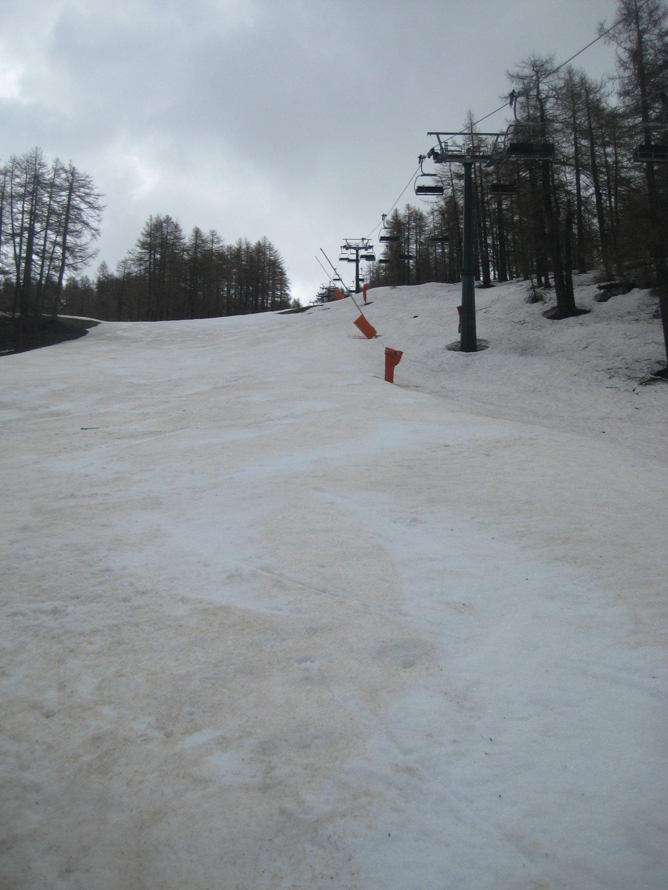 ultime curvette su neve sporca
