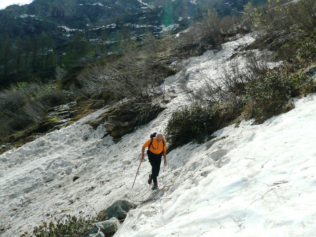 Qualche traverso con la neve... la scivolata è sempre in agguato.