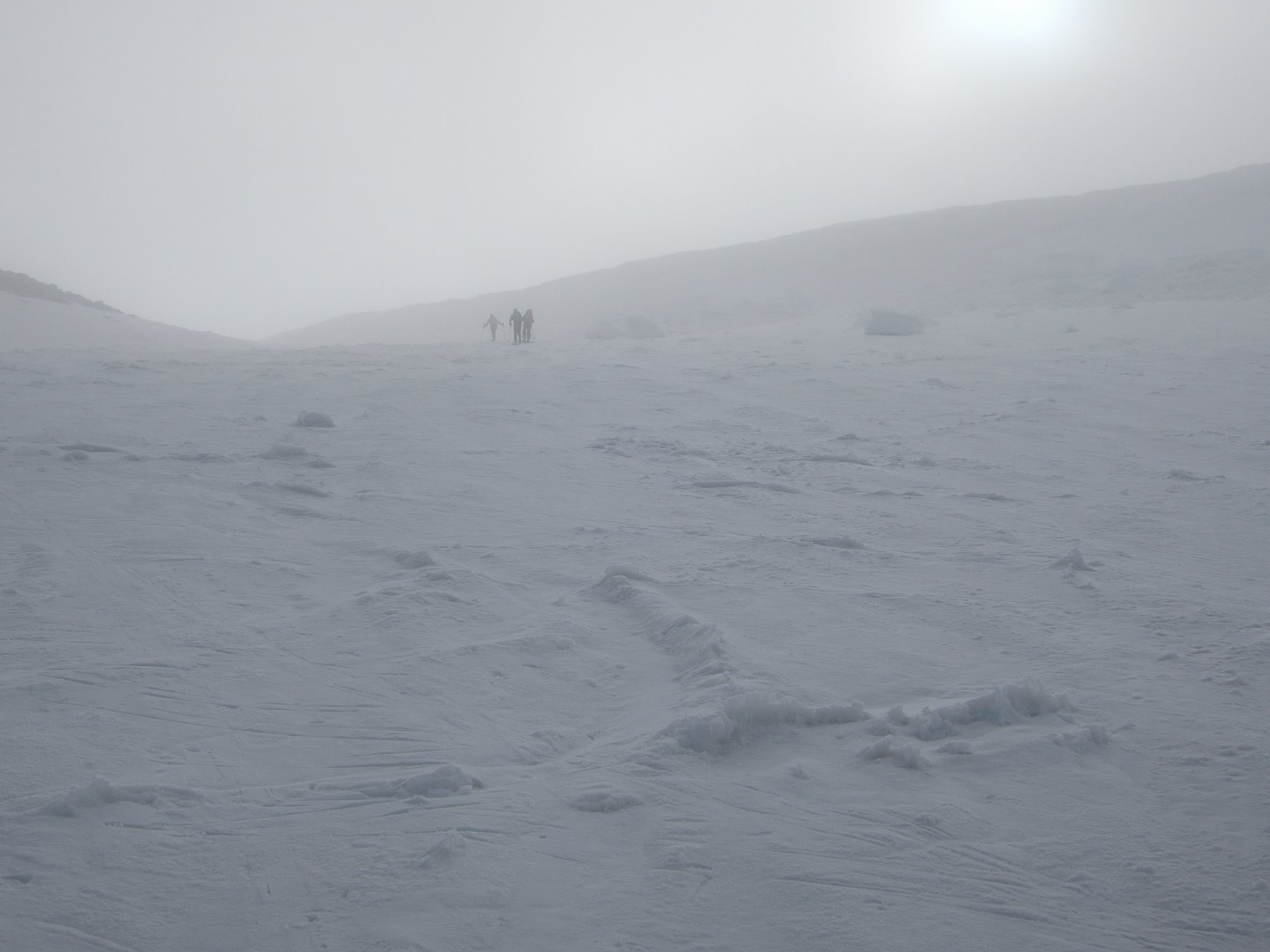 Breithornpass nella nebbia