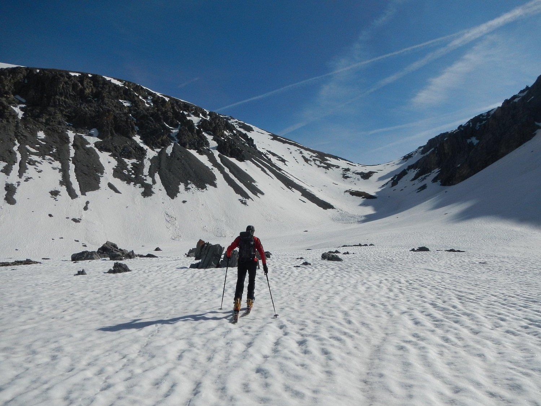 il valloncello che sale al Col Prafauchier