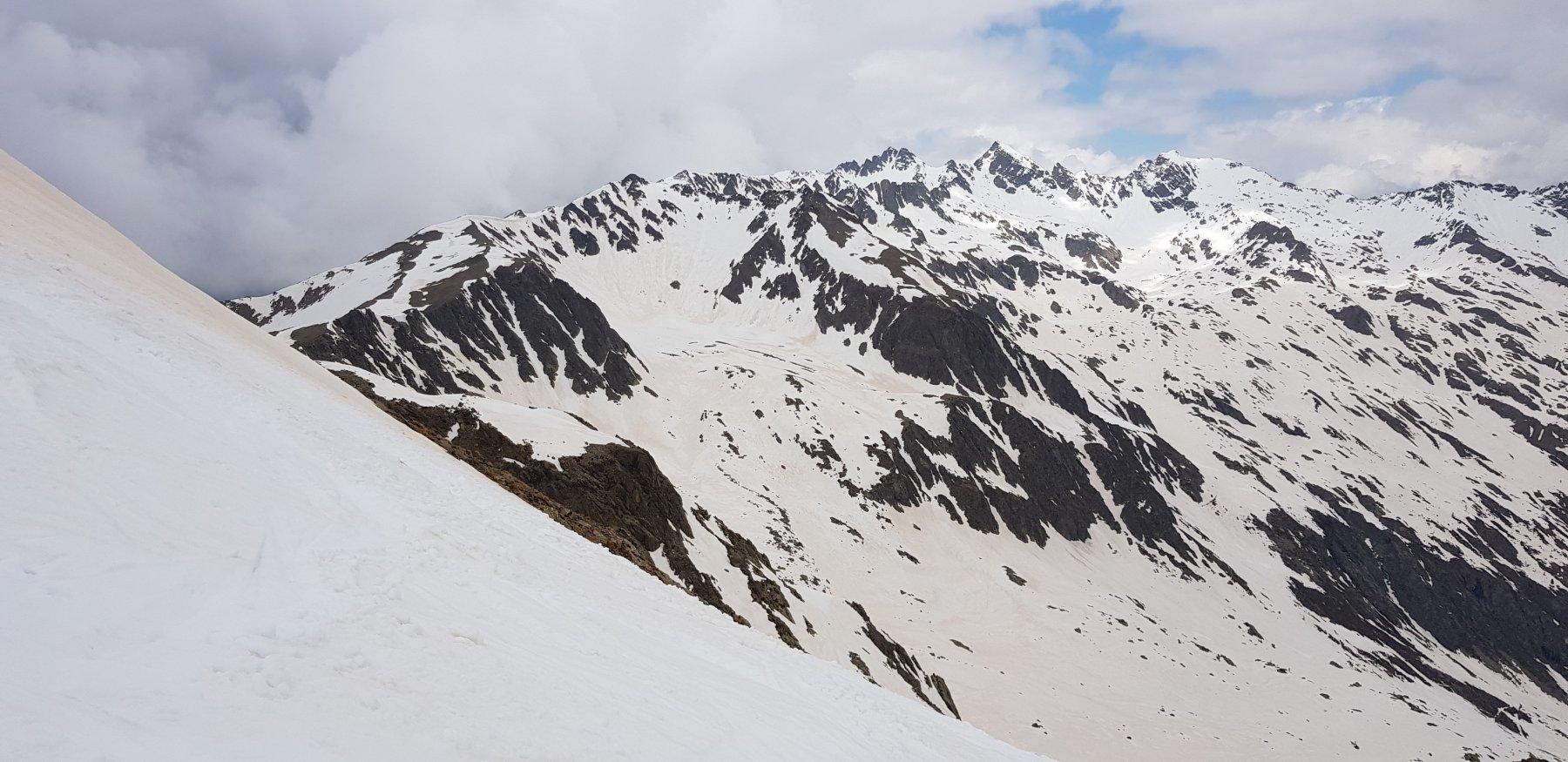 Vista da Collalunga sul vallone del Corborant