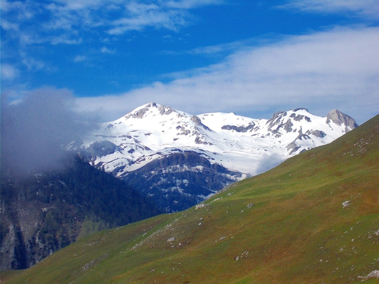 le cime del Seirasso  dal Colle Mezzarina