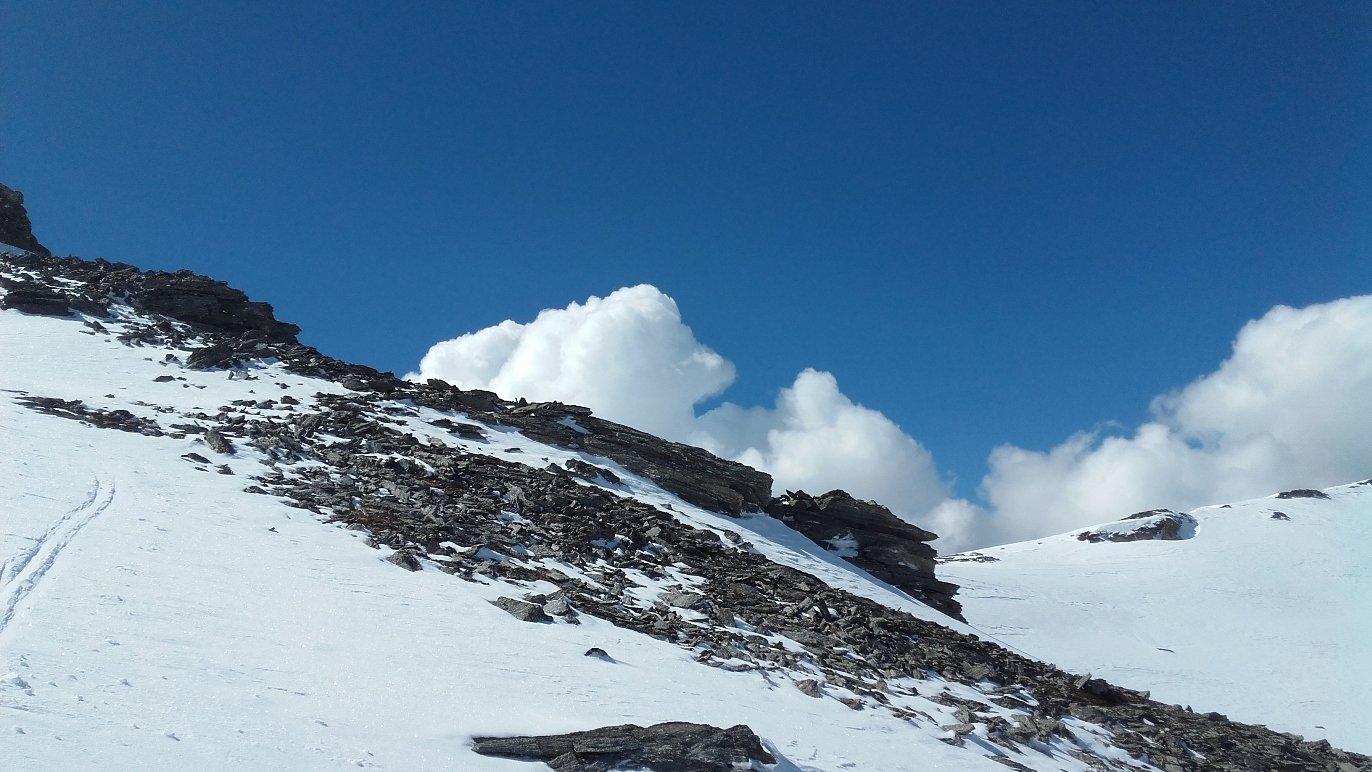 nuvole in arrivo - poco dopo discesa