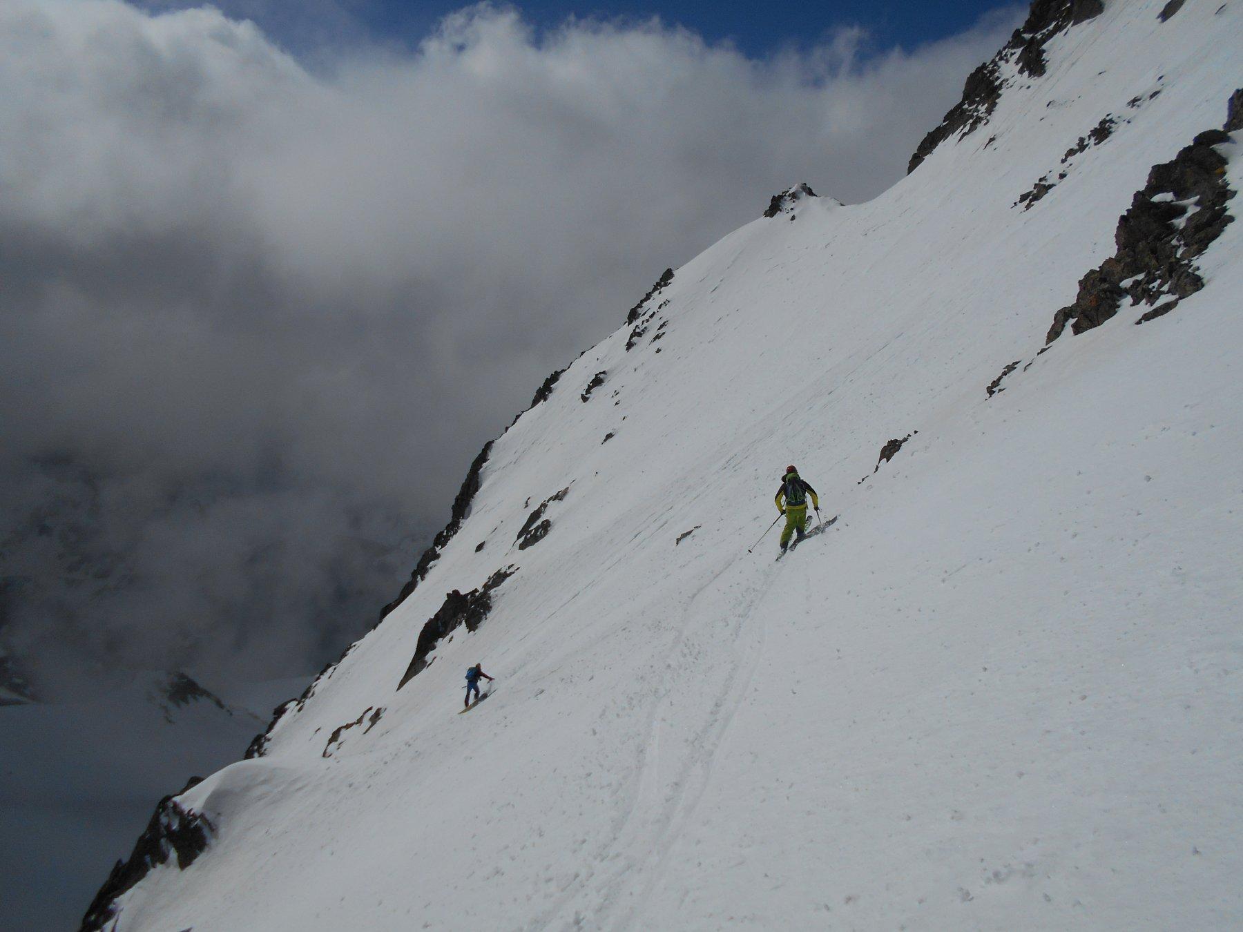 Sciata andante su ottima neve