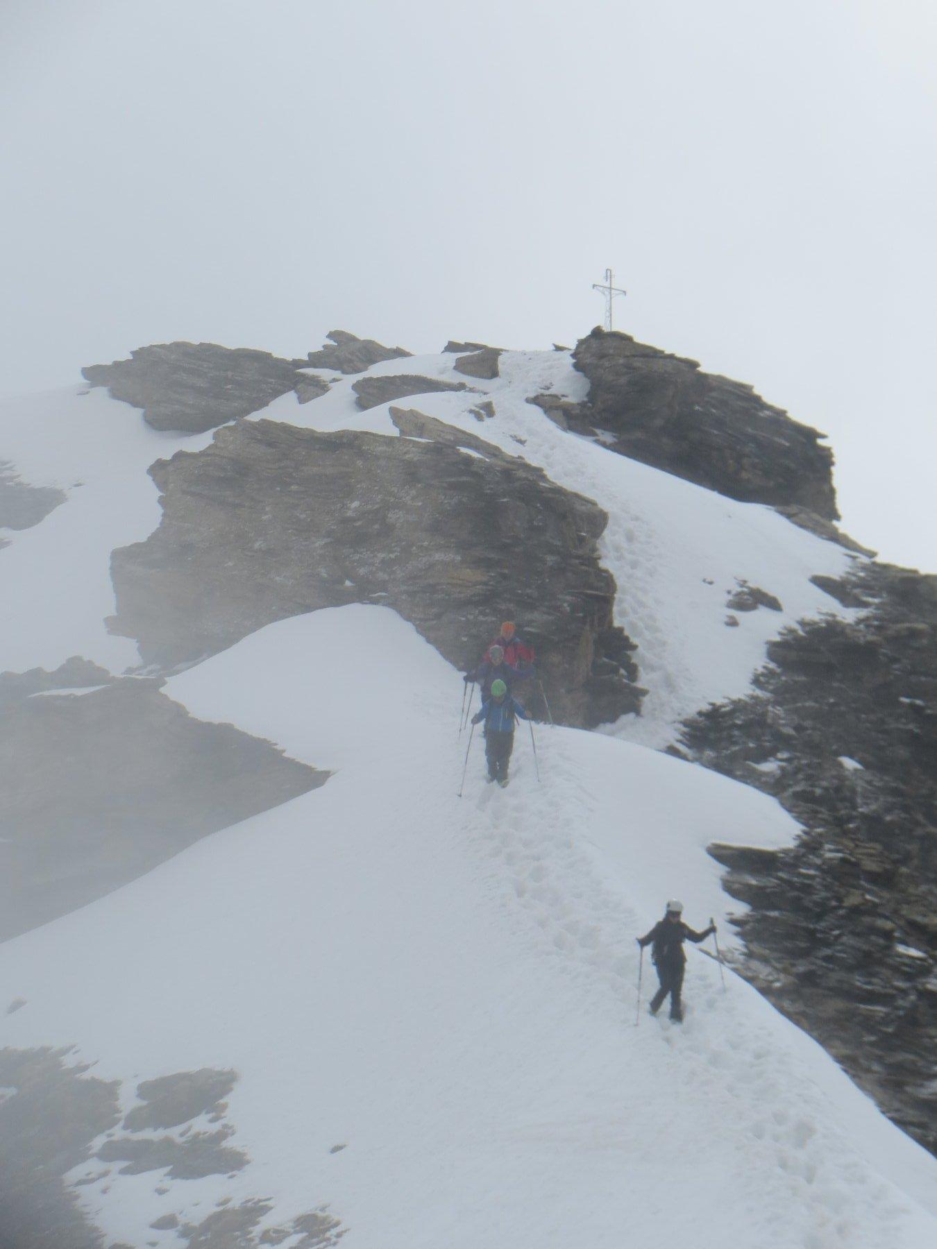 discesa da cima alpinistica