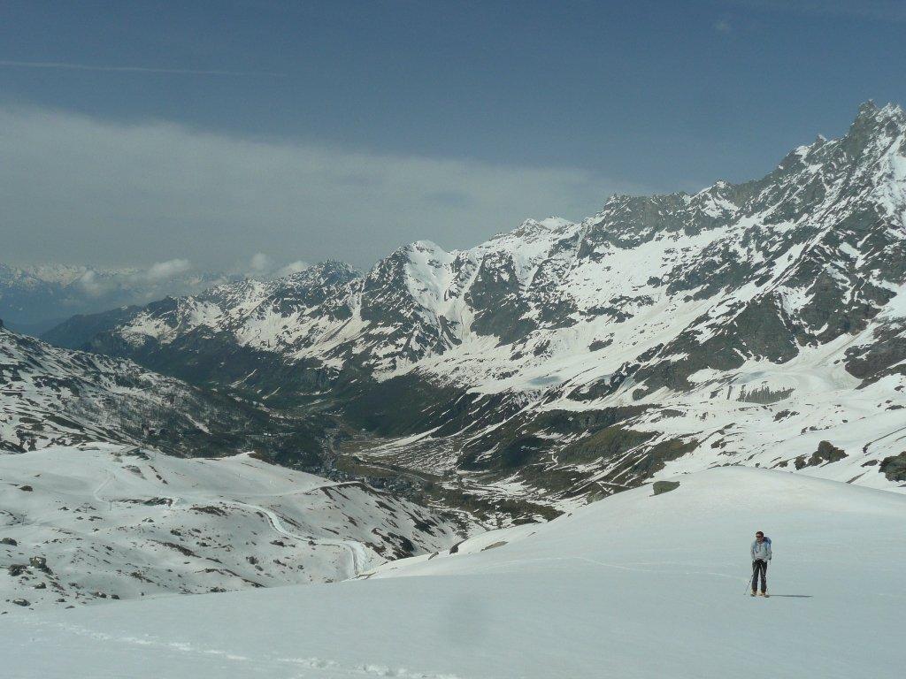 La valle che oggi ospita il Giro d'Italia.