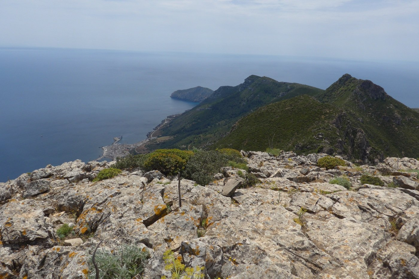 Panorama dalla vetta verso sud