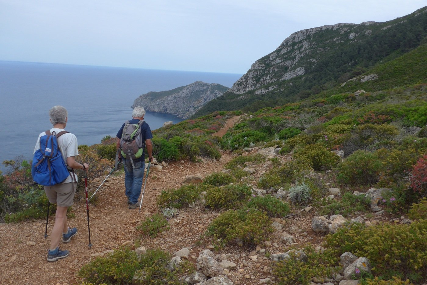 Scendendo verso punta Bassana