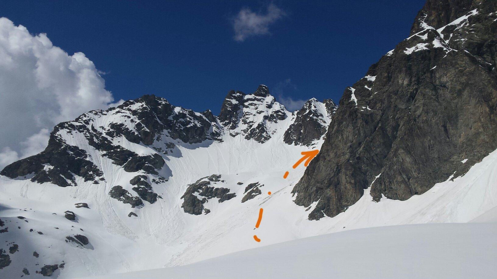 colle Tzan versante Valtournenche