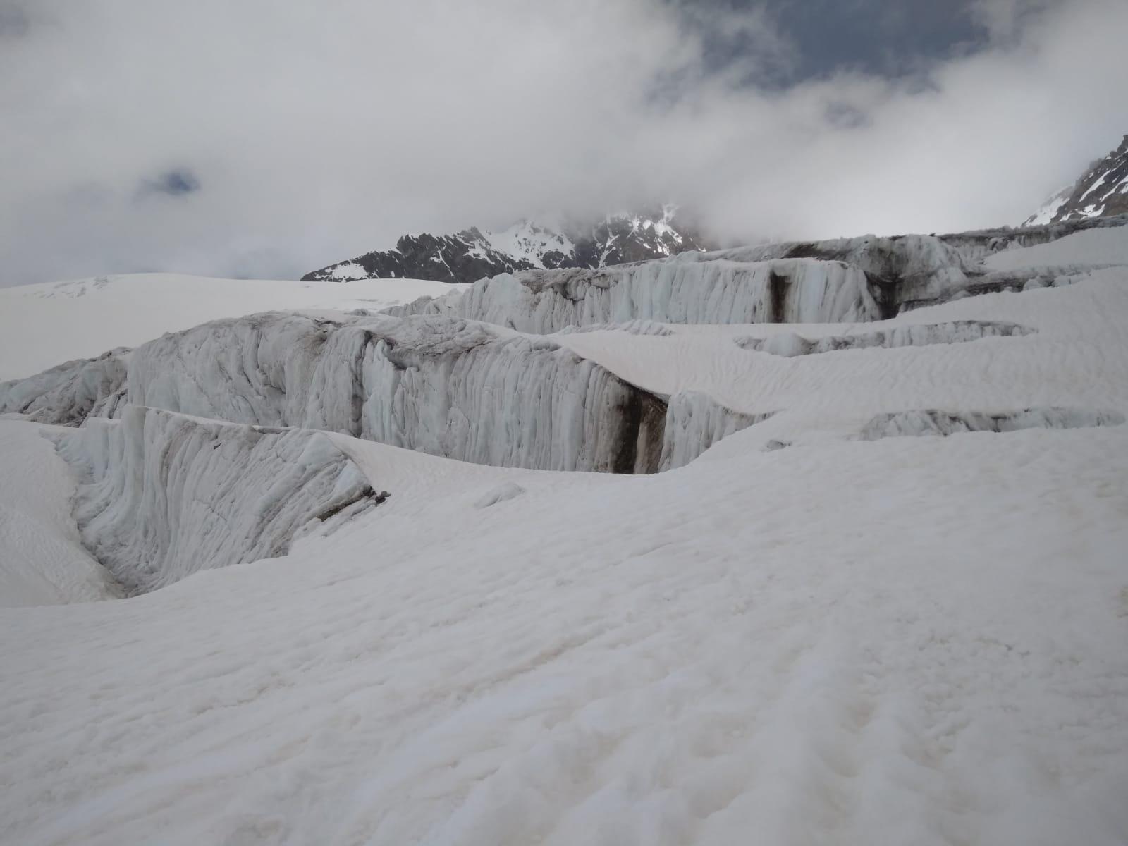 La parte centrale del ghiacciaio