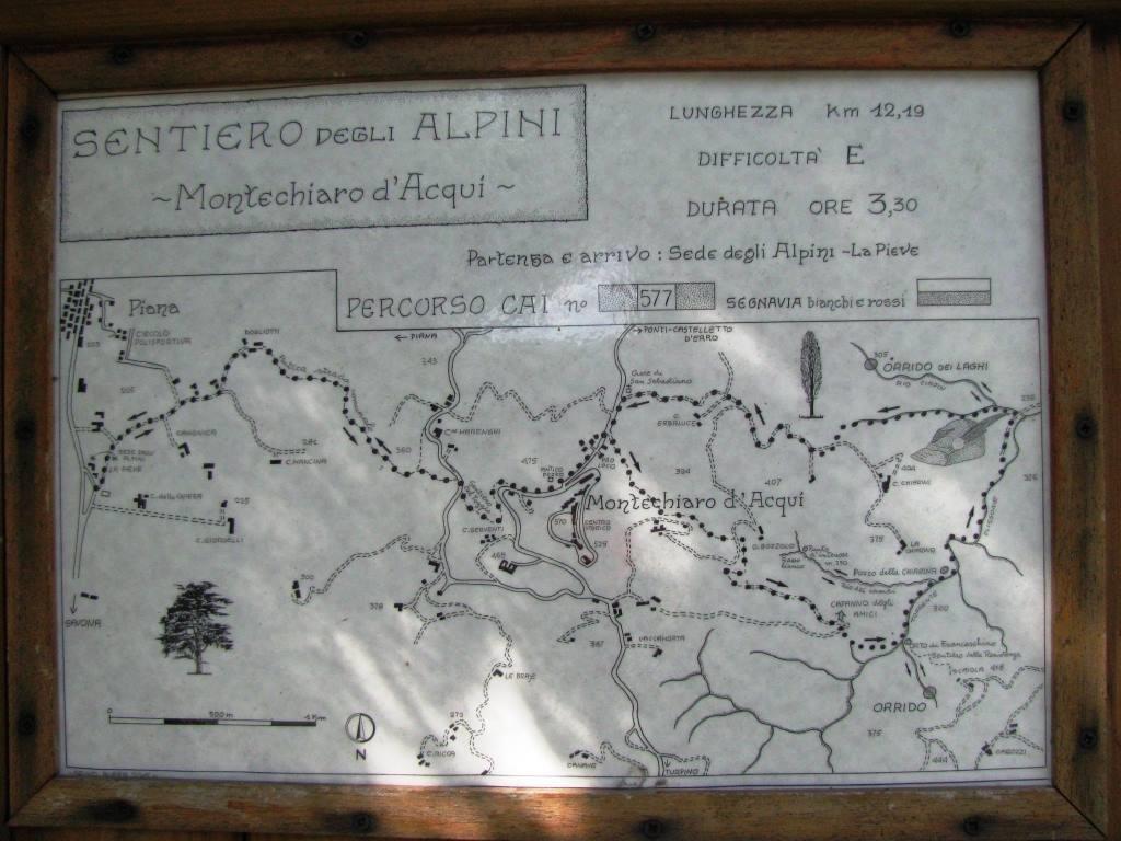 La mappa del percorso alla partenza.