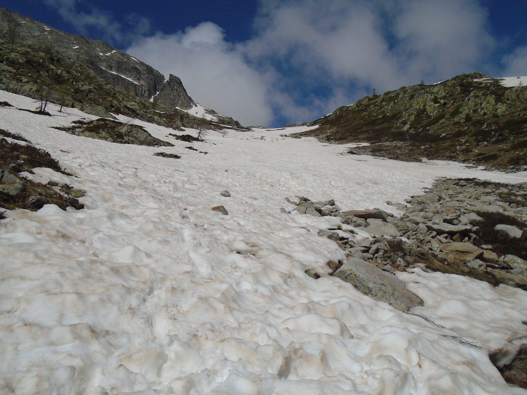 Dove inizia la neve continua a circa 2000m