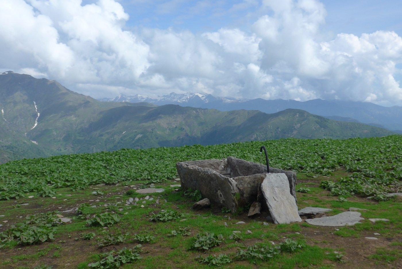 La fontana dell'Alpe Vandalino