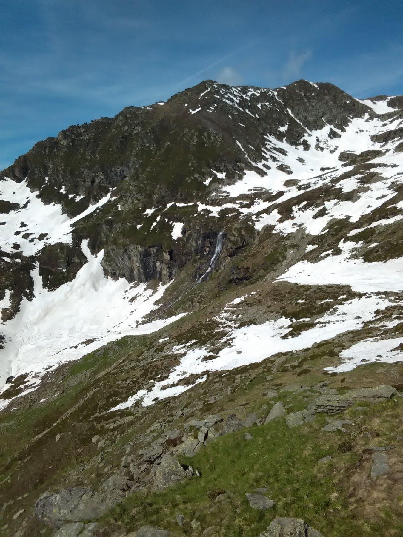 Cascata dell' Alpe Sella Vecchia dal sentiero balcone