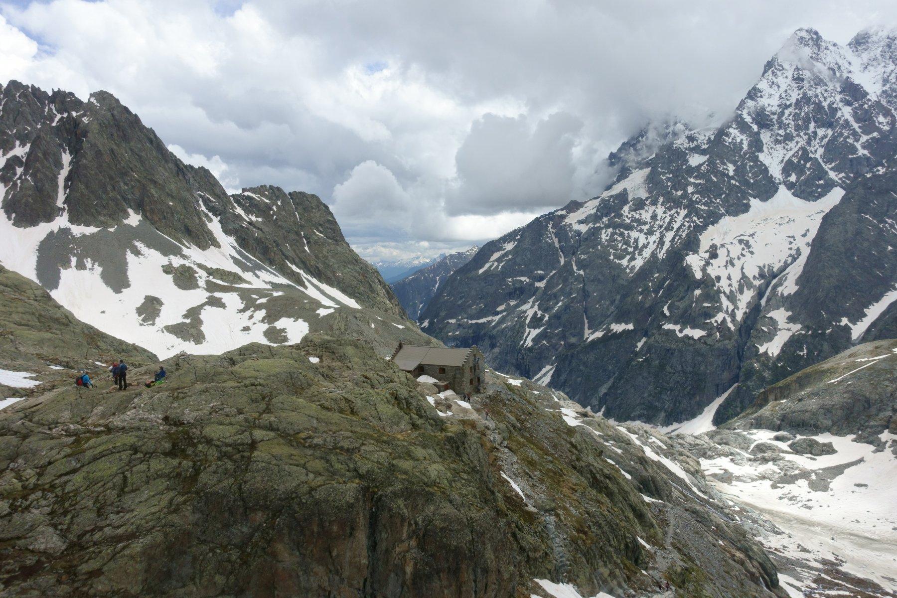 Sopra al refuge Glacier Blanc