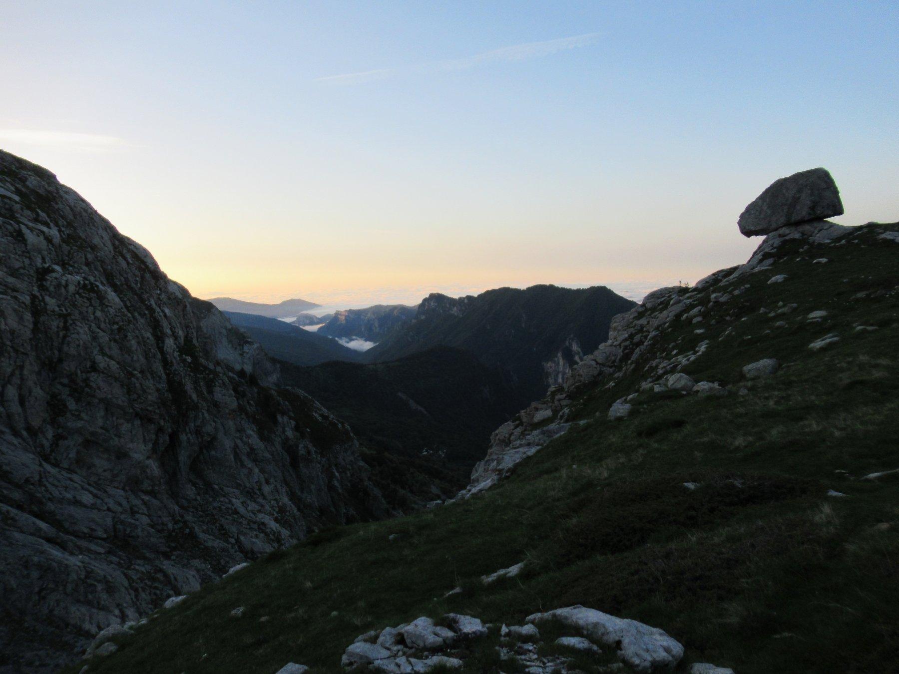 L'alba dal Passo Mastrelle.