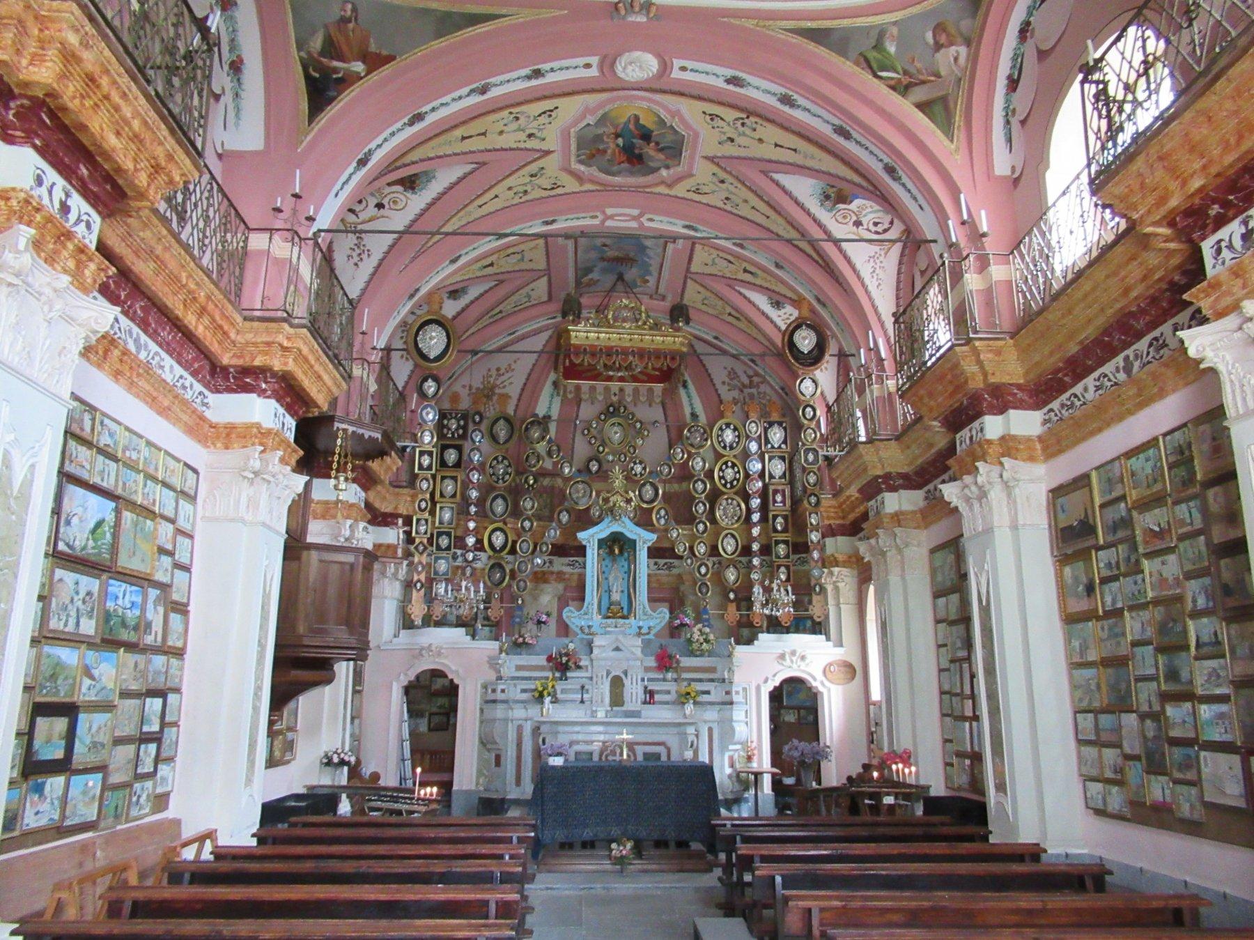 Santuario di Marsaglia il bellissimo interno