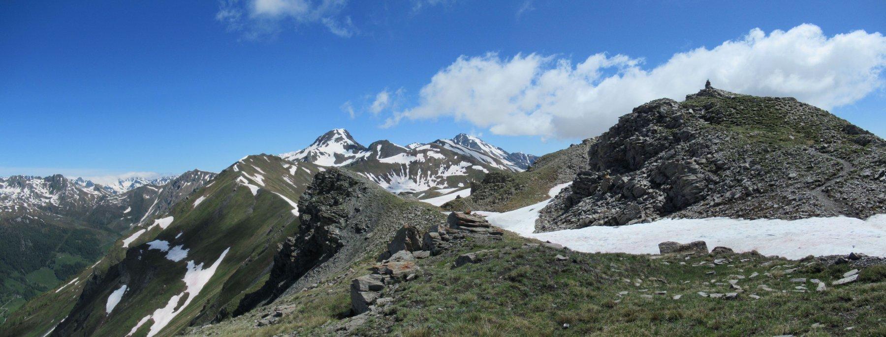 Punta Ollietta con a sx Rosso Vertosan, Leysser e Fallere
