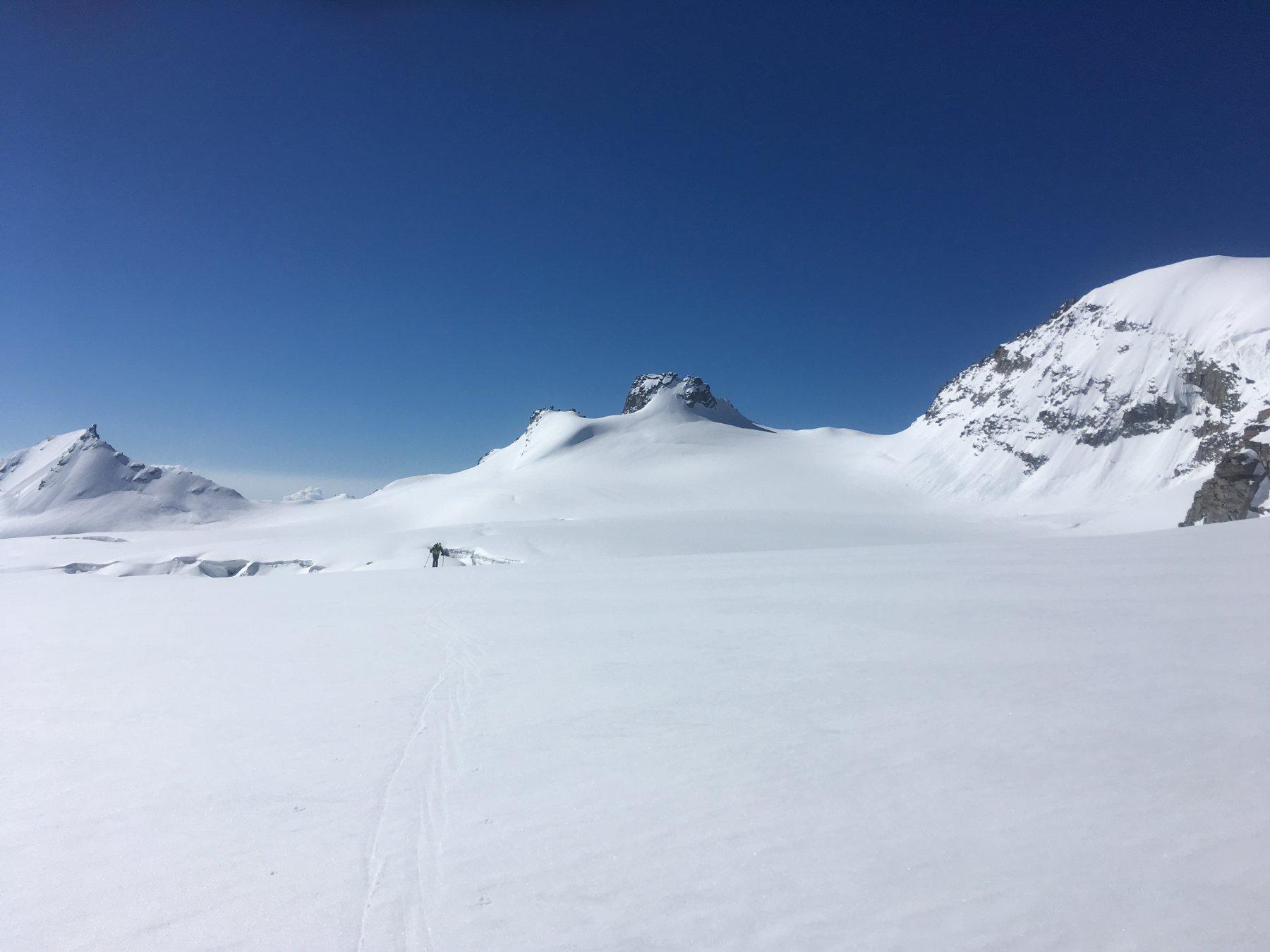 Piero in arrivo dal ghiacciaio della Tribolazione
