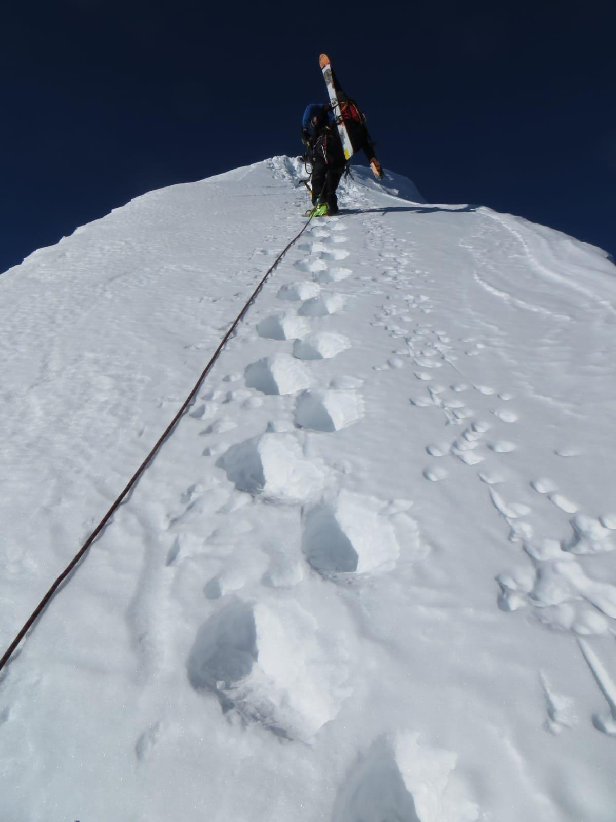 Cresta per arrivare all imbocco della Est