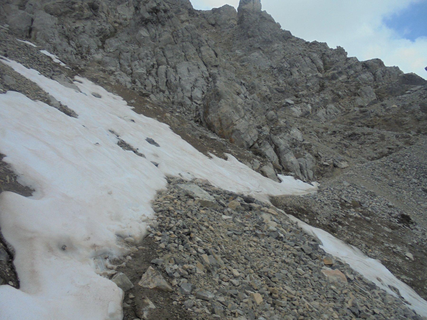 Il nevaio, in una posizione veramente poco felice