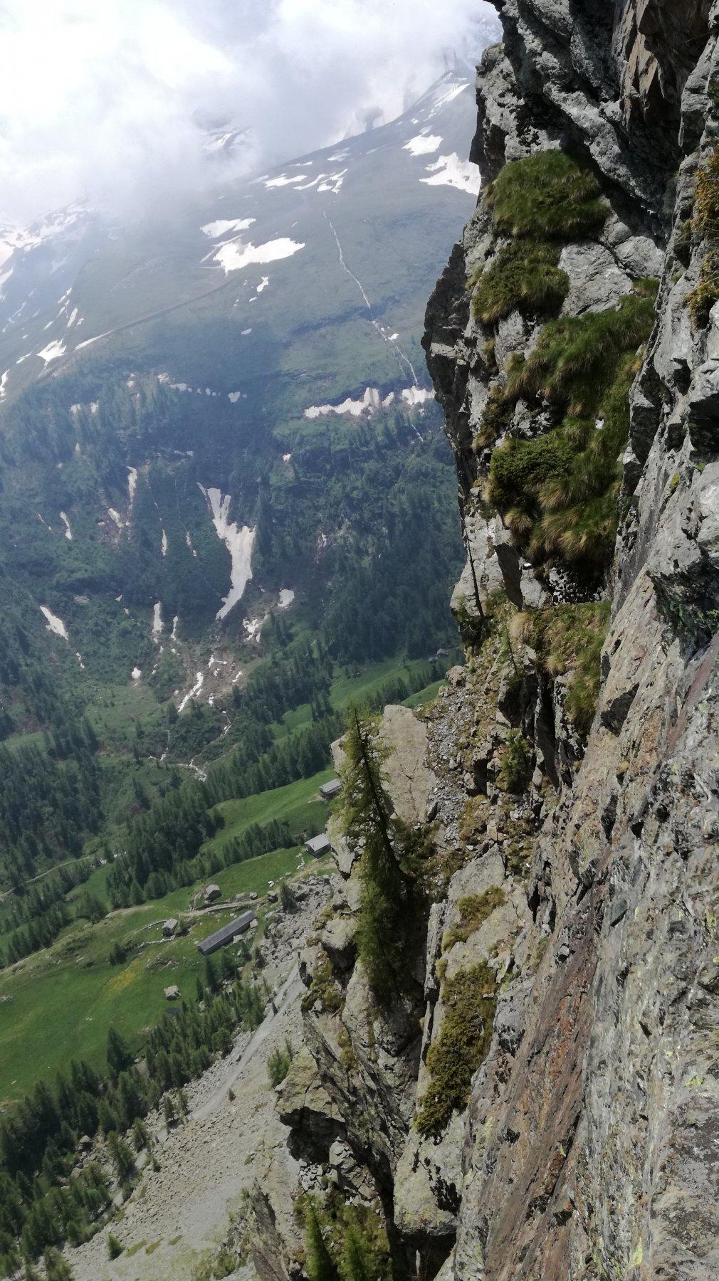 la vista che si gode arrampicando sul Becco