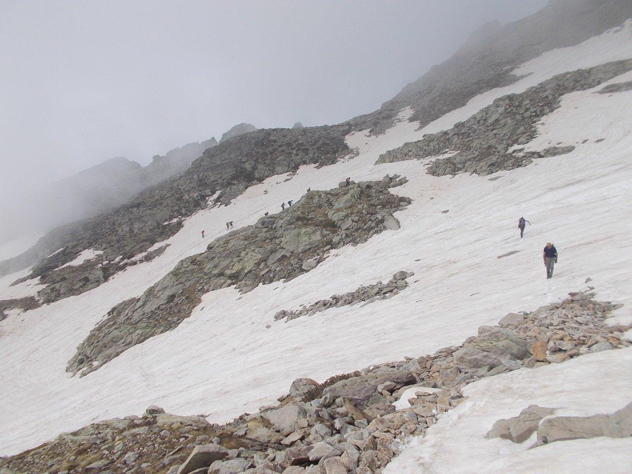 Nevai  nella conca  superiore