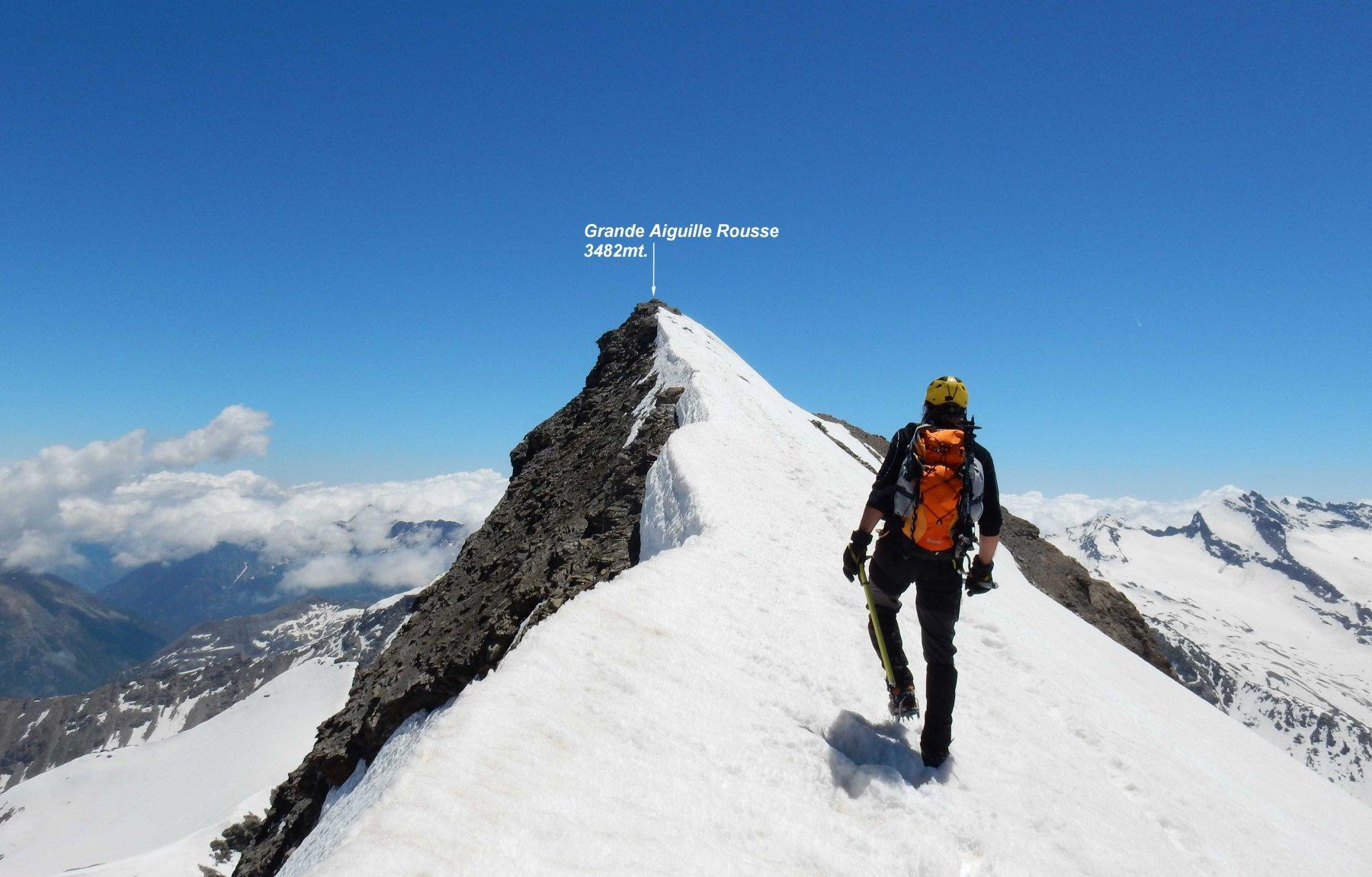 Ultimi metri sulla cresta finale,