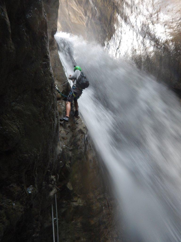 Seconda cascata oggi imponente