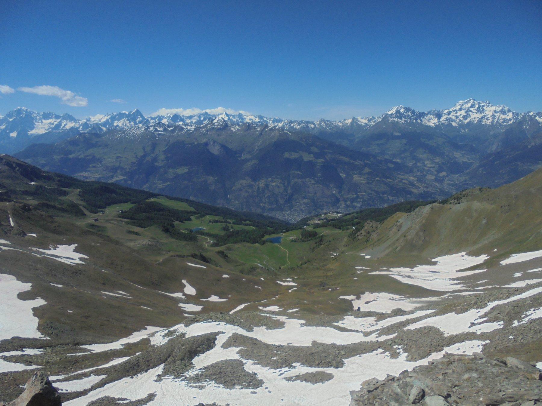 Panorama dal Colle Tseseche, punto più alto del giro