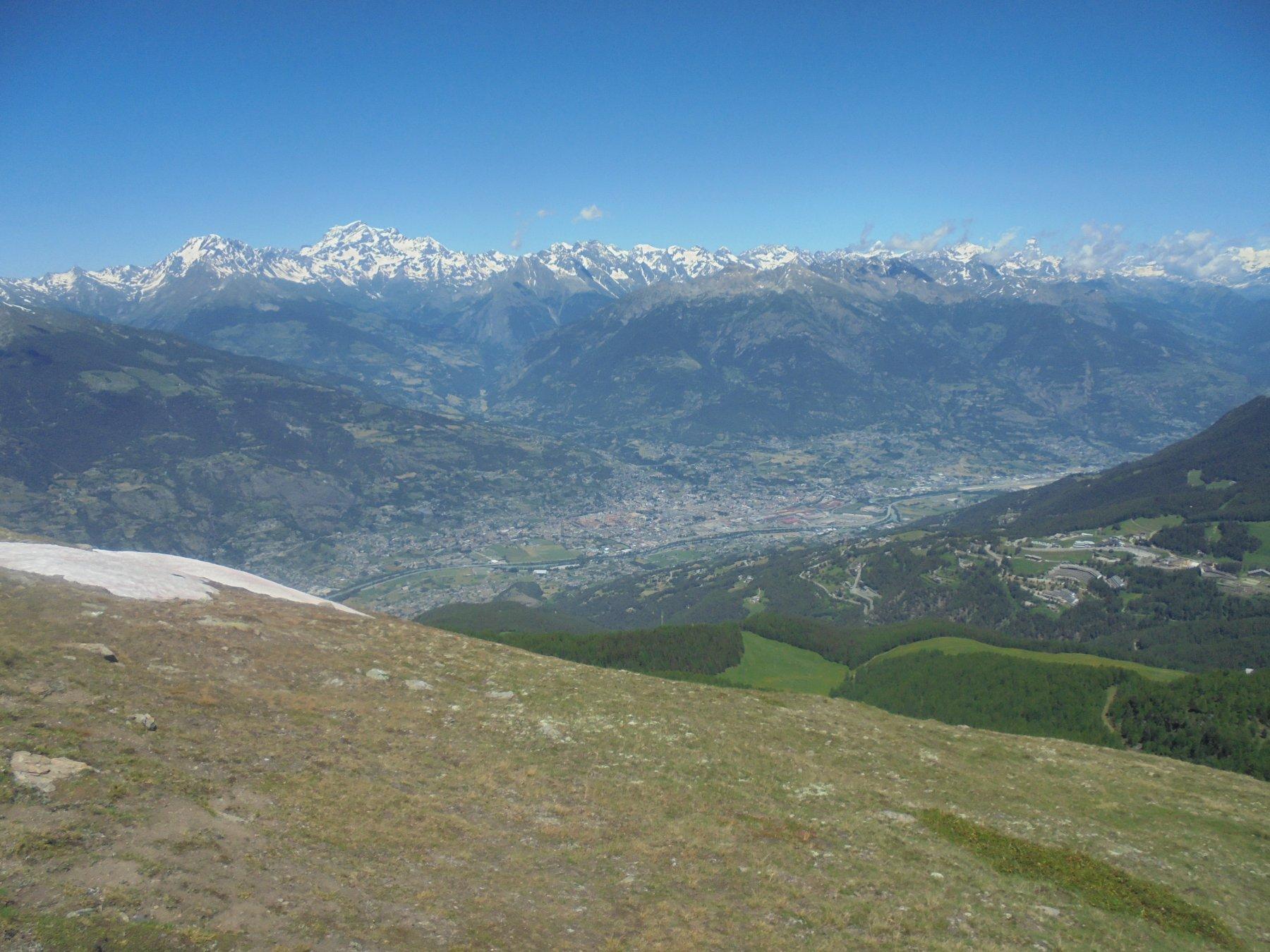 Conca di Aosta dalla Pierre, Velan (credo) e Grand Combin