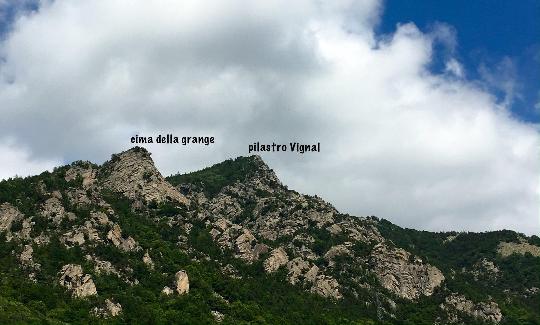 Vista delle strutture da Roure
